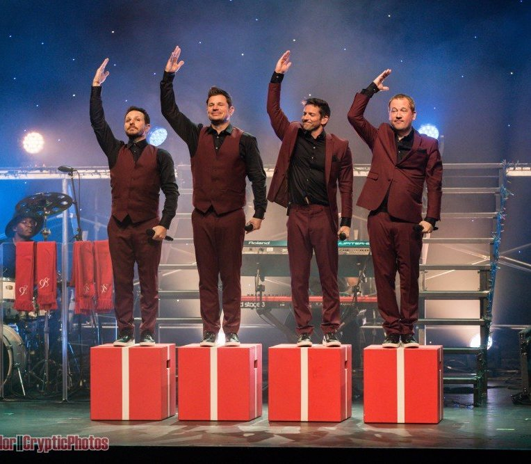 American boy band 98 Degrees performing at The Vogue Theatre in Vancouver, BC on November 6th 2018