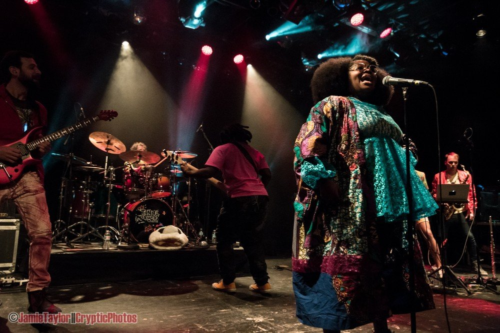 """Singer Tarriona """"Tank"""" Ball of Tank and The Bangas performing at The Commodore Ballroom in Vancouver, BC on November 5th, 2018"""