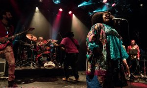 "Singer Tarriona ""Tank"" Ball of Tank and The Bangas performing at The Commodore Ballroom in Vancouver, BC on November 5th, 2018"