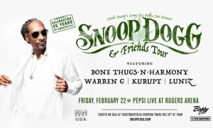 Snoop Dogg + Bone Thugs-n-harmony + Warren G + Kurupt + Luniz at Rogers Arena - February 22nd, 2019