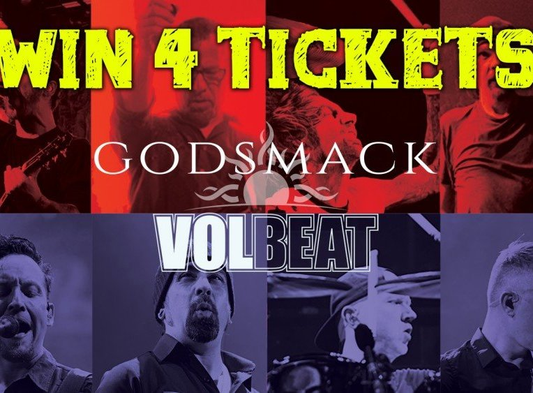 Contest Giveaway to Win 4 Tickets + a poster to Godsmack + Volbeat at Abbotsford Centre in Abbotsford, BC on April 26th 2019