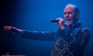 Photo of English singer Peter Murphy performing at The Vogue Theatre in Vancouver, BC January 19th, 2019