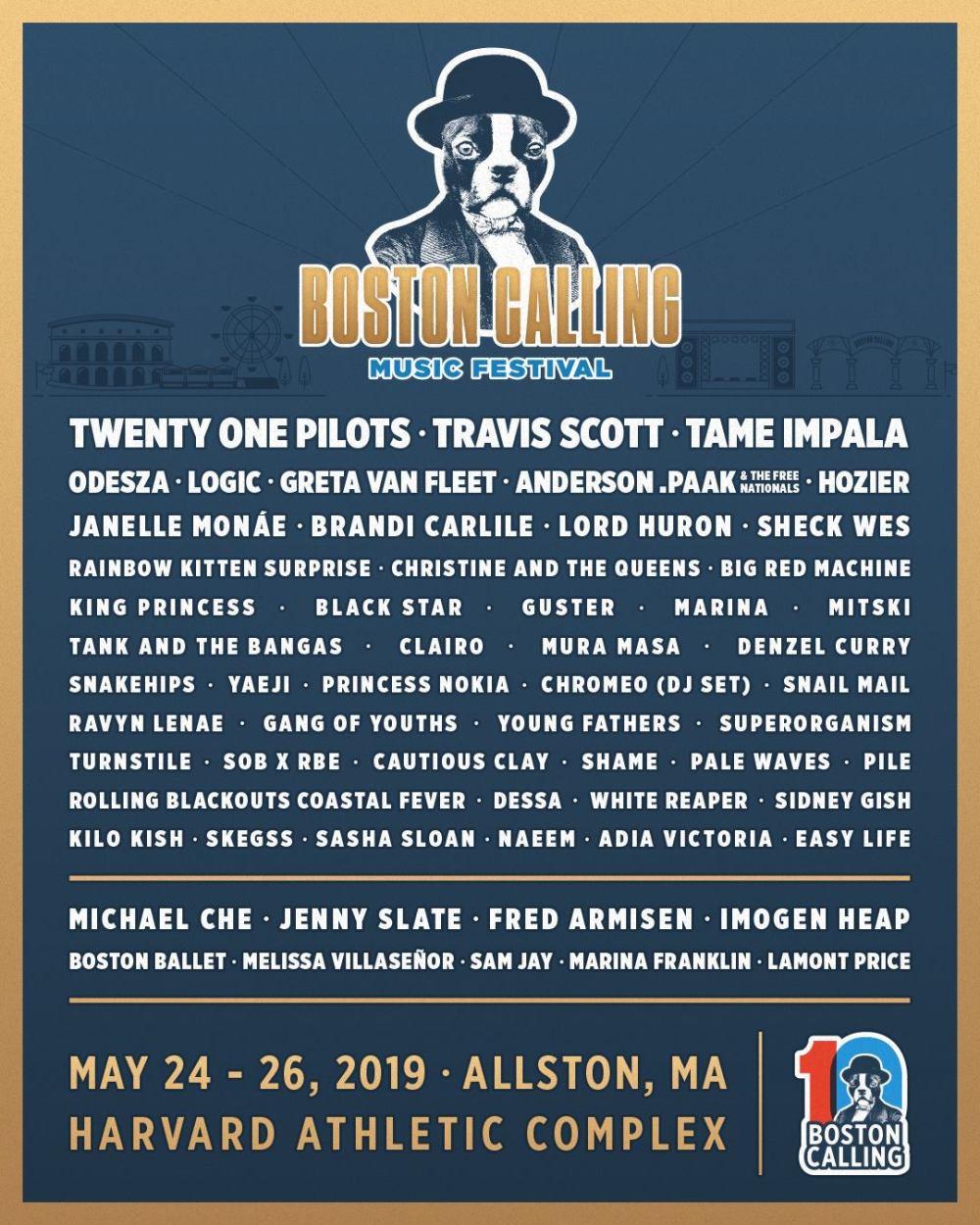 Boston Calling 2019 at Harvard Athletic Complex (Boston) - May 24th, 2019 - poster lineup