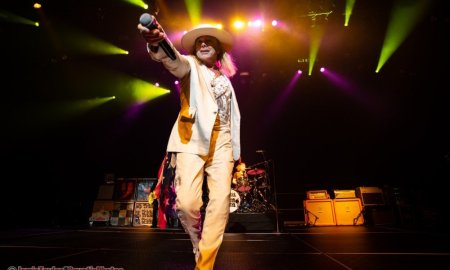 Singer Robin Zander of American rock band Cheap Trick performing at the Molson Canadian Theatre at the Hard Rock Casino Vancouver in Coquitlam, BC on December 28th 2018