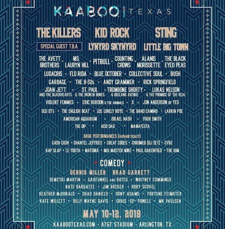 Kaaboo Texas 2019 at AT&T Stadium (Texas) - May 10th, 2019