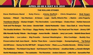 New Orleans Jazz & Heritage Festival 2019 at Fair Grounds Race Course (Louisiana) lineup poster admat