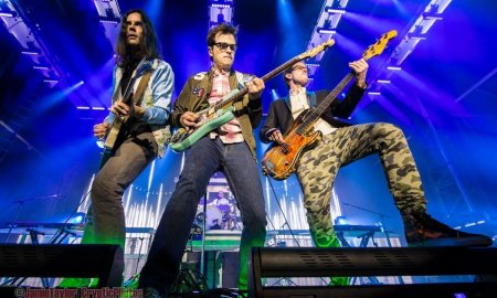 American rock band Weezer performing at Deer Lake Park in Burnaby, BC on July 28th, 2016