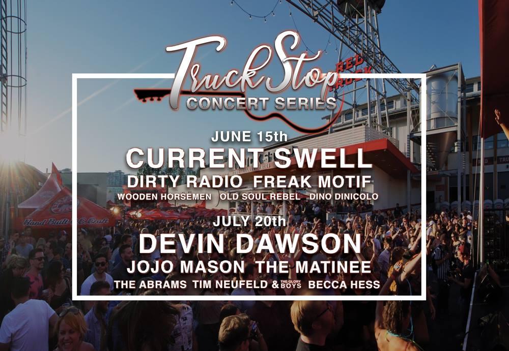 Red Truck Beer Truck Stop Concert Series 2019 lineup poster