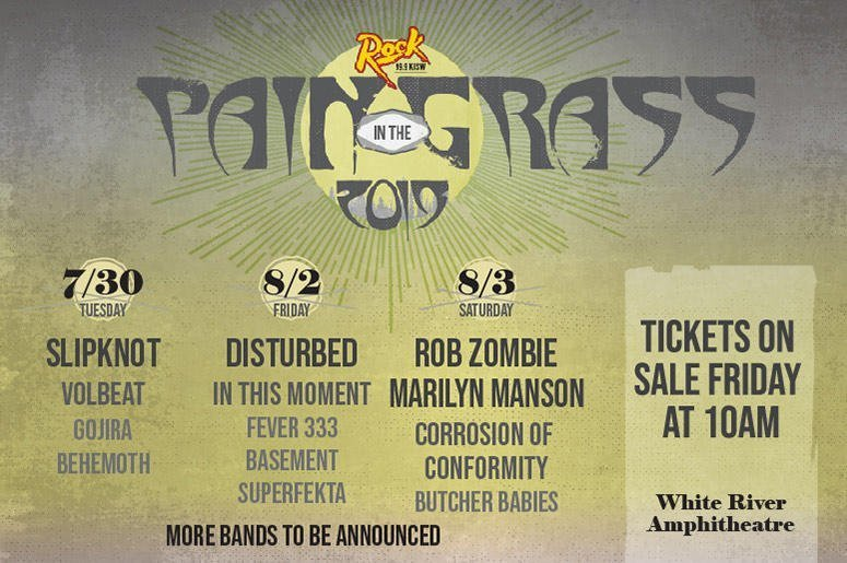 Pain In The Grass 2019 @ White River Amphitheatre