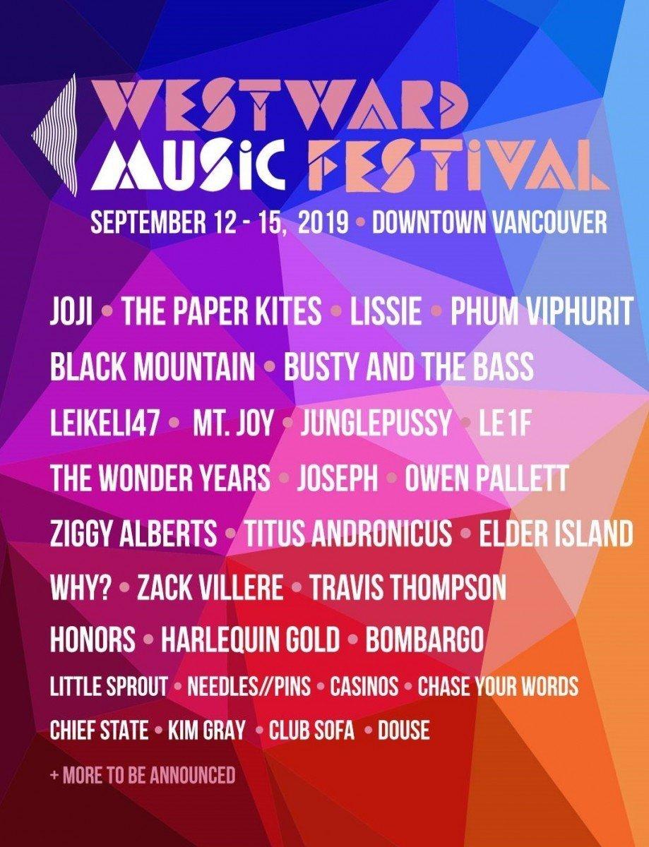 westward music festival 2019 lineup poster