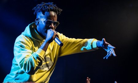 Nigerian singer-songwriter Mr Eazi performing at The Commodore Ballroom in Vancouver, BC on April 18th, 2019