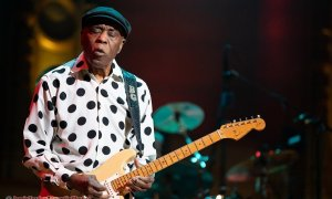 American blues guitarist and singer Buddy Guy performing at the Orpheum Theatre in Vancouver, BC on Monday, April 22nd, 2019