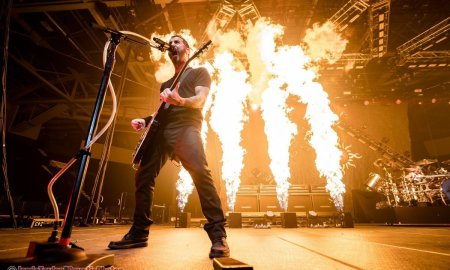 Lead singer Sully Erna of American rock band Godsmack performing at Abbotsford Centre in Abbotsford, BC on April 26th, 2019