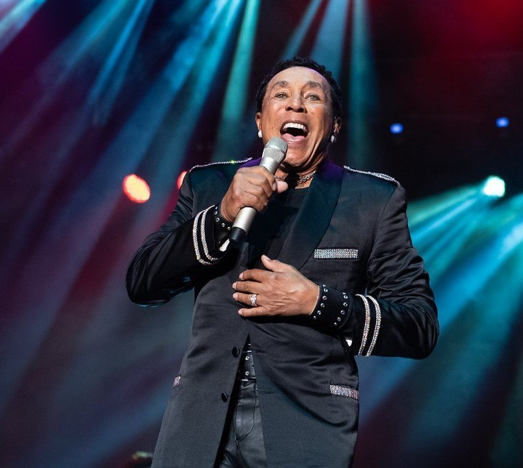 American singer-songwriter Smokey Robinson performing at the PNE Amphitheatre in Vancouver, BC on August 23rd, 2019