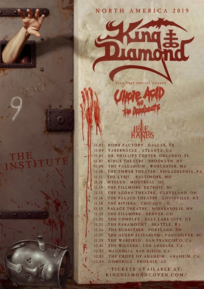 King Diamond Unveils 2019 North American Tour official poster