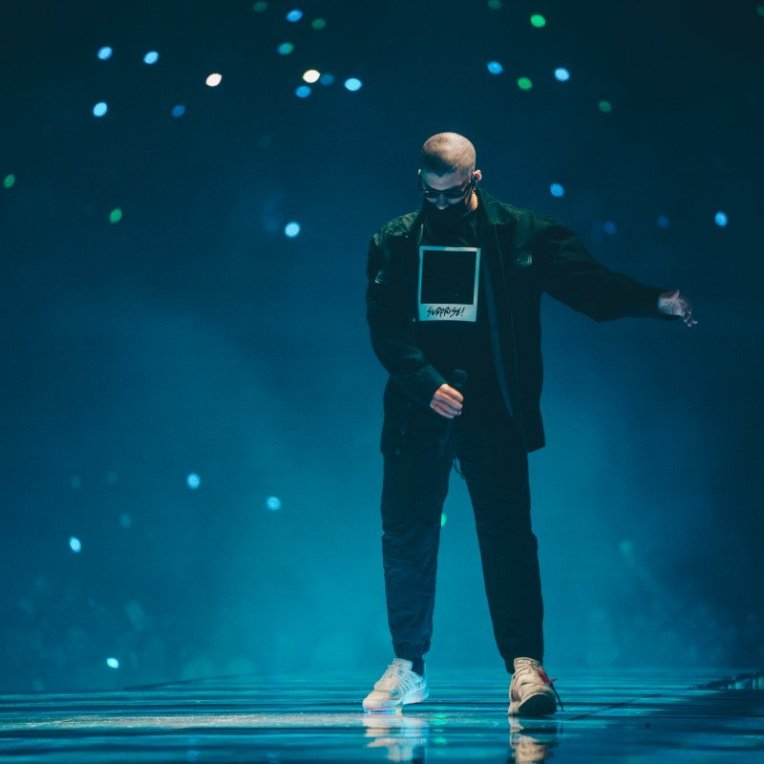 Photos of Puerto Rican Latin trap and reggaeton singer Bad Bunny at Freeman Coliseum in San Antonio, TX on November 9th, 2019 © Aaron Quintanilla