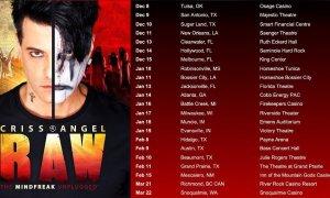 """RAW: The Mindfreak Unplugged Tour"" ft. Criss Angel 2020"