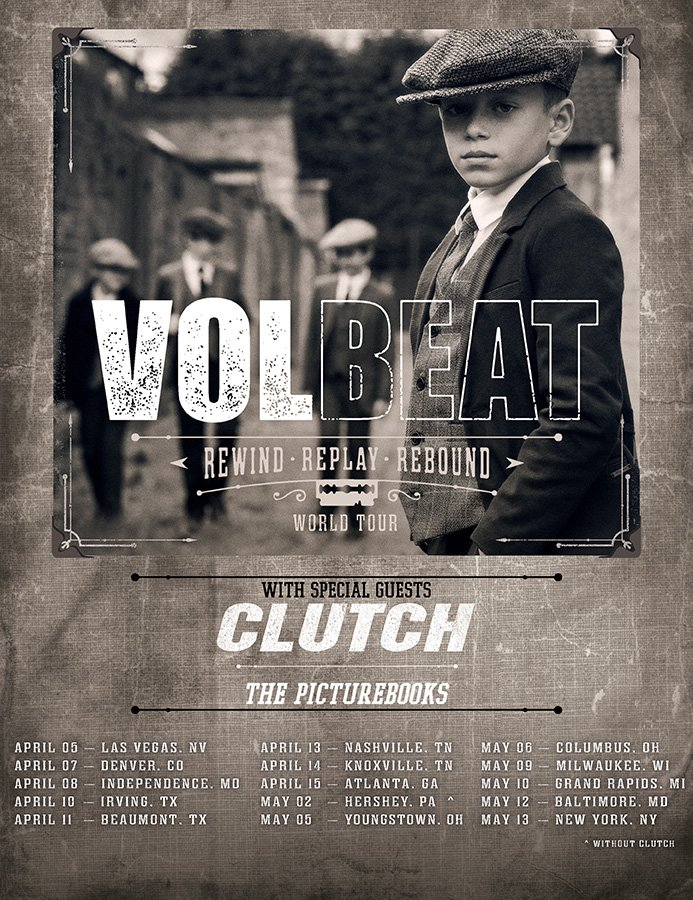 "Volbeat Announces 2020 ""Rewind, Replay, Rebound World Tour"""