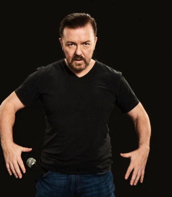 Ricky Gervais 2020 promotional image