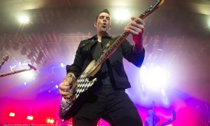 Lead signer Tyler Connolly of Canadian rock band Theory Of A Deadman performing at The Commodore Ballroom in Vancouver, BC on February 1st, 2020