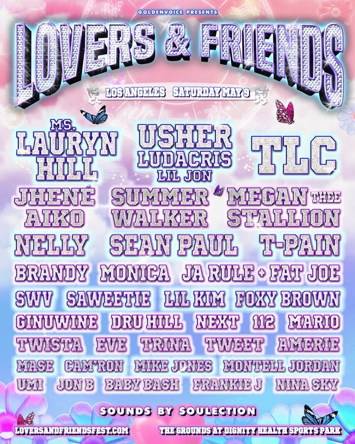 lovers and friends music festival 2020 lineup poster