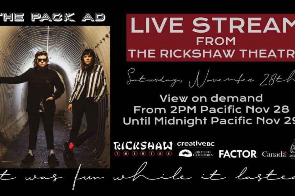 Live Stream From The Rickshaw: The Pack A.D. @ Rickshaw Theatre 2020 november 28