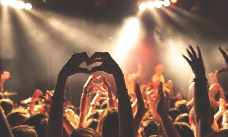 concert crowd friendship love hands happy dance