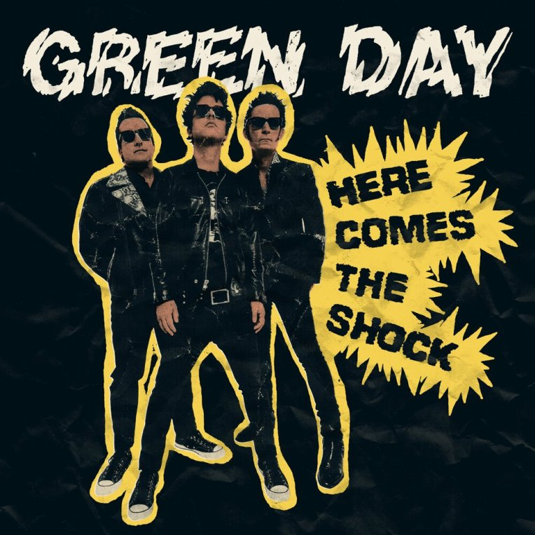 """Green Day New Song; """"Here Comes The Shock"""" artword cover poster 2021"""