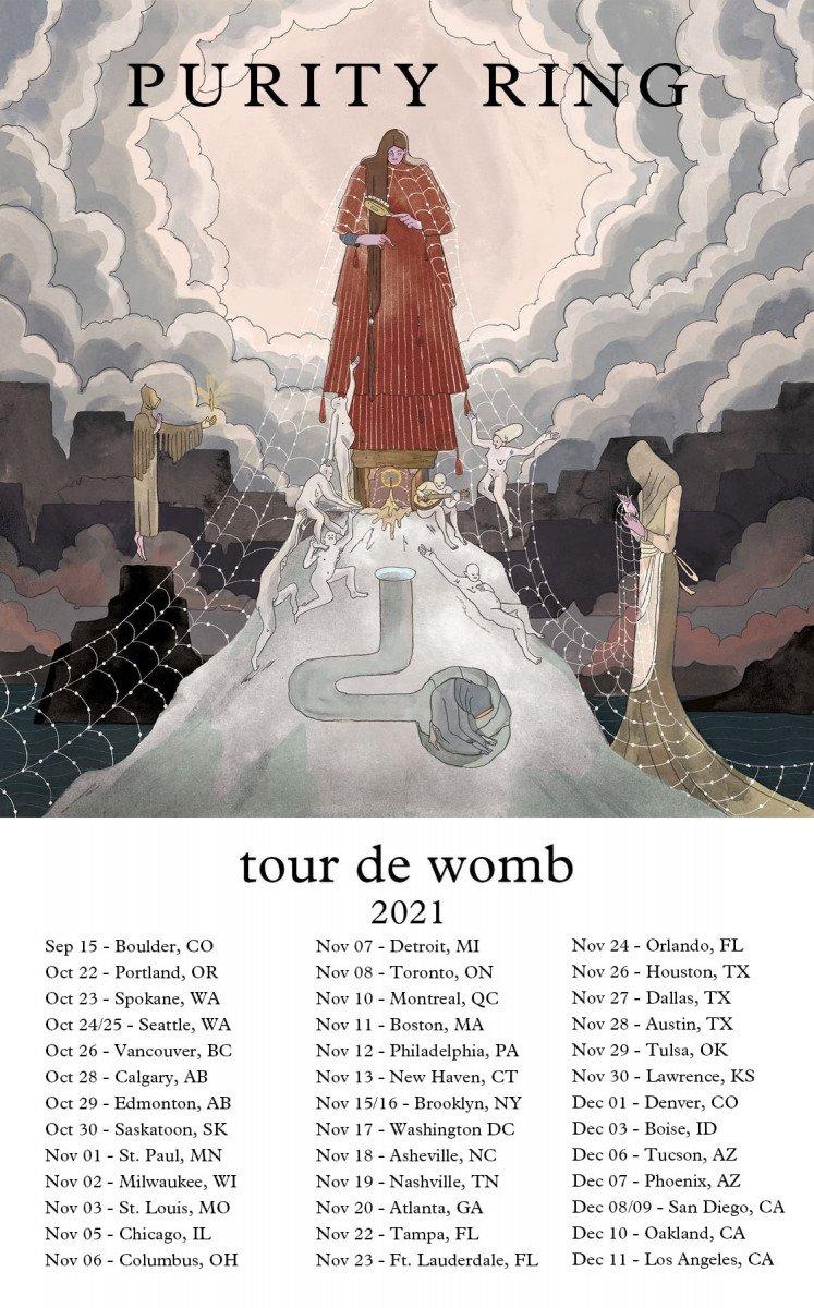purity ring tour de womb dates poster admat banner 2021