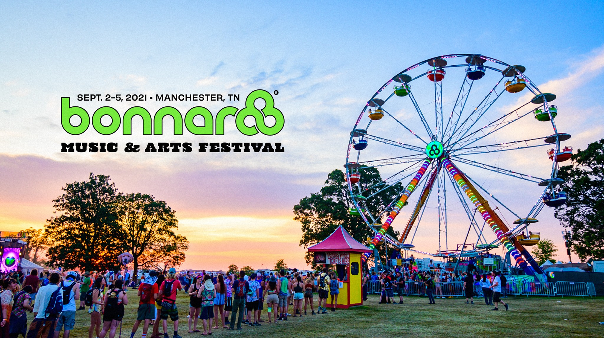 Bonnaroo Music and Arts Festival 2021 title banner