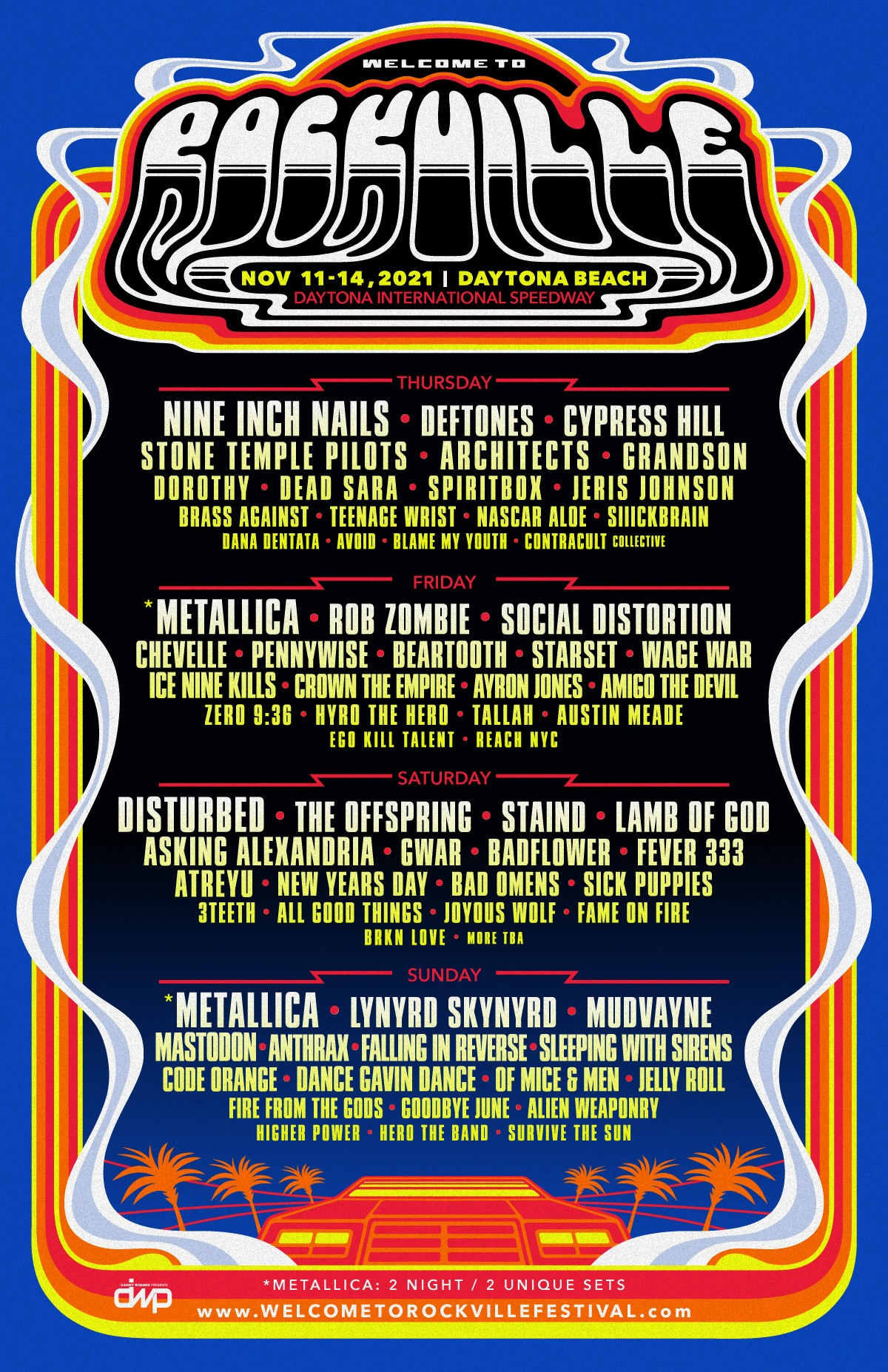 Welcome to Rockville 2021 lineup poster admat banner