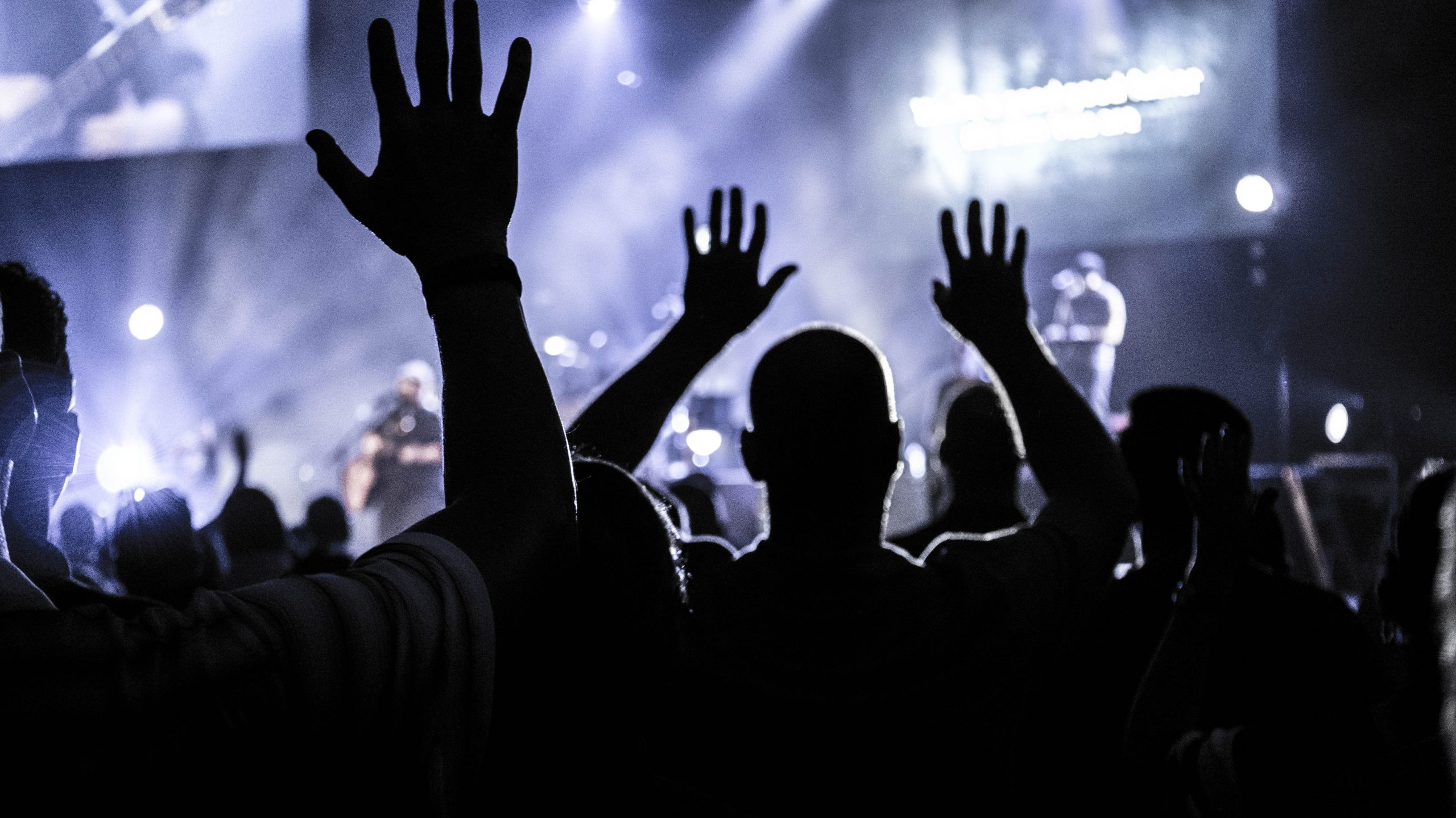 live music crowd hands 2021