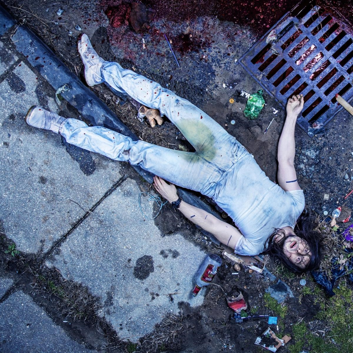 """Andrew W.K. album """"god is partying"""" 2021 cover"""