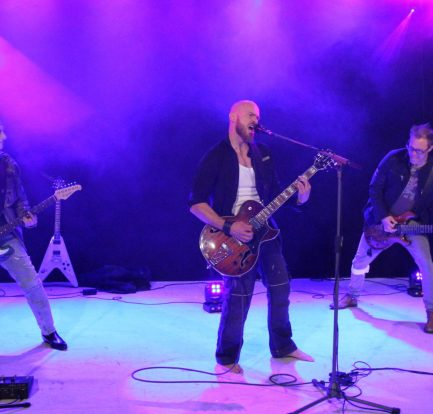 Swedish melodic rock band Pressure on stage