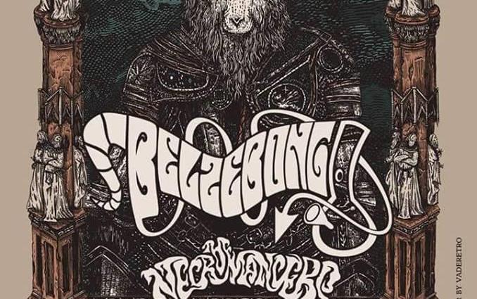 "Belzebong Necro Little Jimi Poster - ""Purveyors of Dankness Tour 2018"""
