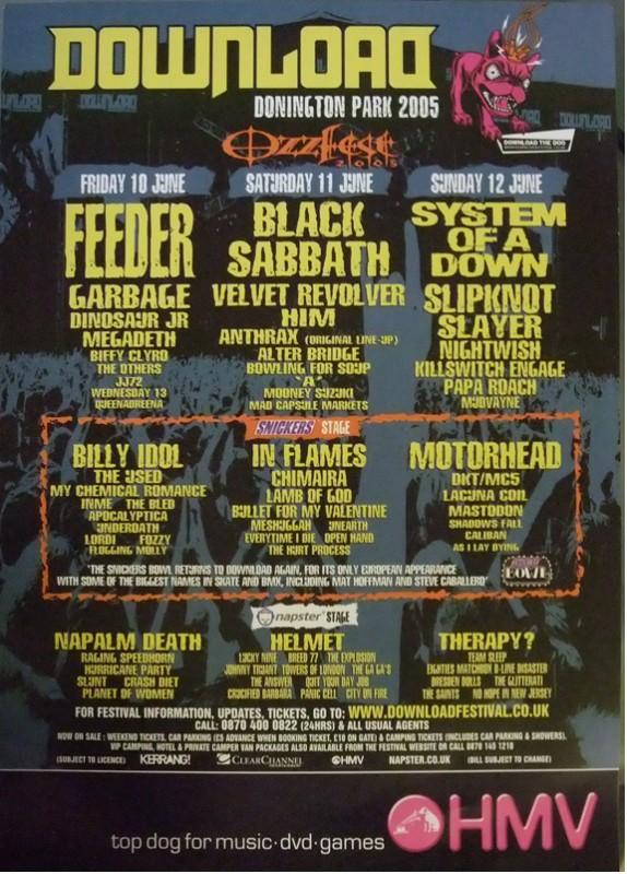 Agenda Concerts Metal Download Festival 2005 1006