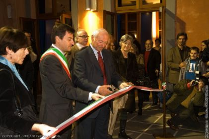 inaugurazione museo di storia naturale di grosseto, con piero angela