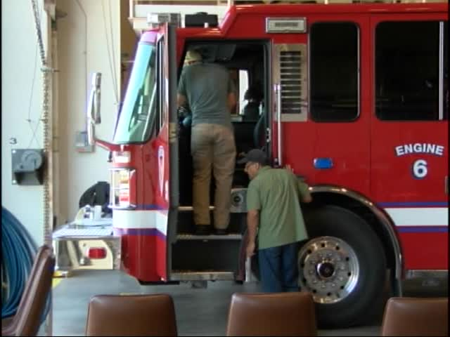 Goodfellow Celebrates Arrival of Firetrucks for Maintence_40568417-159532