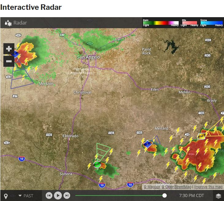 Stay ahead of the storms with our Interactive Radar