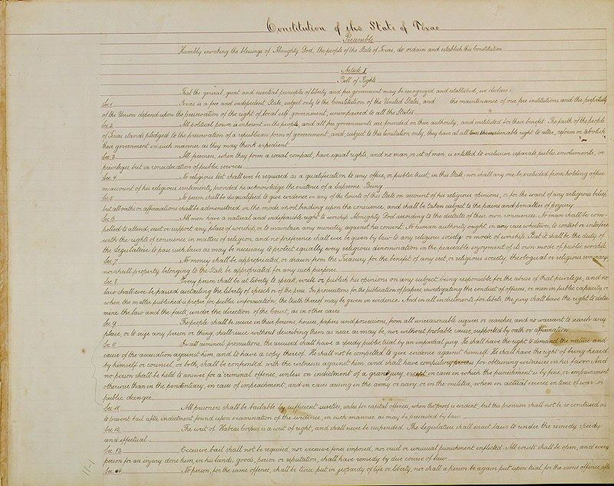 Texas Constitution of 1876