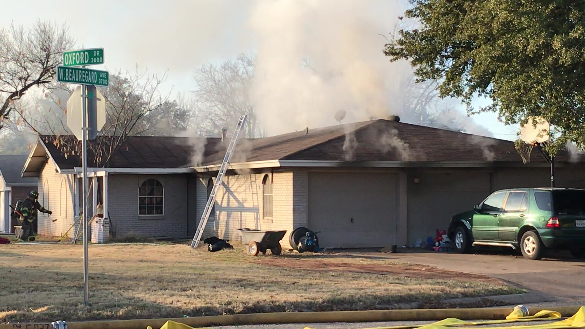 House fire at Oxford and West Beauregard