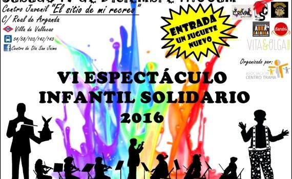Espectáculo infantil del proximo evento de conciertos solidarios en Madrid. Una recogida de juguetes para niños de familias desfavorecidas.