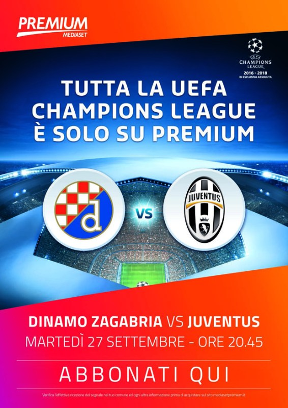 Mediaset Premium Champions League seconda giornata