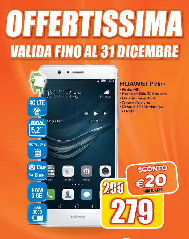 Huawei P9 Lite offerta a 279€