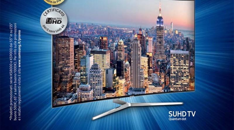 La tua tv Samsung ti regala un buono sconto da 1000€