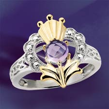The Concorde Collection Scottish Romance Ring Amethyst