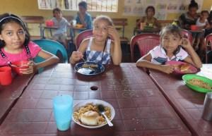 Children being fed