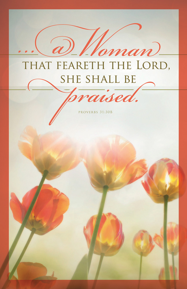 Church Bulletin 11  Mothers Day  A Woman Pack of 100