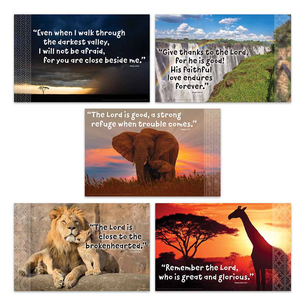 Bible Verse Posters  Set of 5  Roar VBS by Group