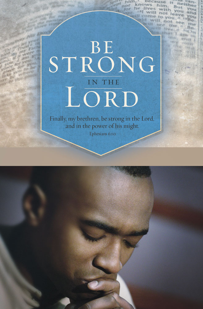 Church Bulletin 11  Black History  Be Strong Pack of 100